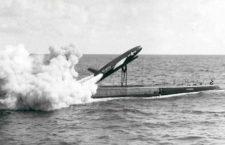 Запуск ракеты Regulus с подводной лодки USS Barbero, 8 июня 1959 года