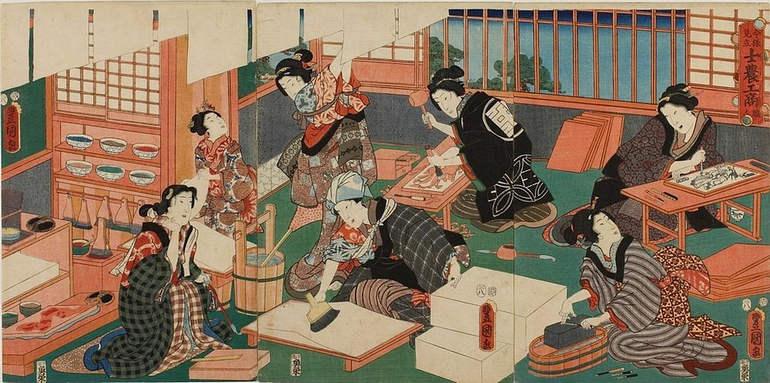 Самый маленький музей укиё э в мире (Япония)