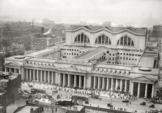 вокзалы США penn station пенсильванский вокзал Нью-Йорк