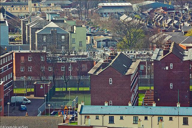 Крыши Дублина с высоты панорамной площадки