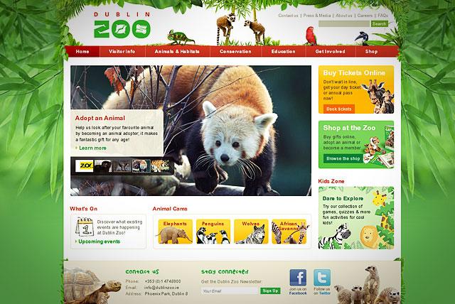 Вебсайт Дублинского зоопарка (Dublin Zoo)