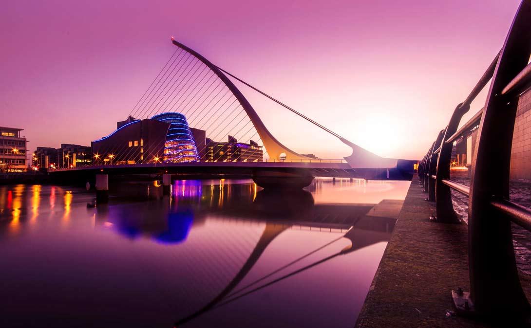 Рассвет в столице Ирландии.