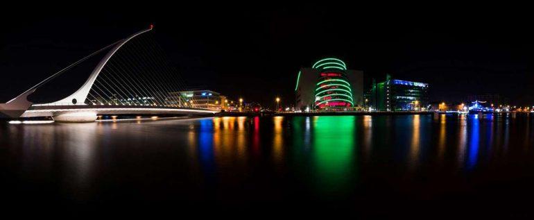 Мост Сэмюэла Беккета и Конгресс-центр в Дублине - фото.