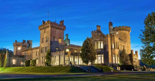Вечерние виды на сказочный замок. В Dromoland castle больше не пускают случайных посетителей