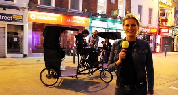 Велорикша в Дублине