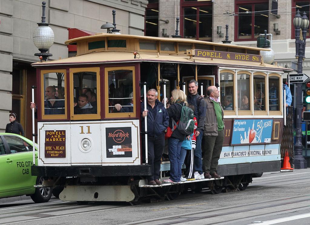 Сан-Франциско: по канатке на трамвае