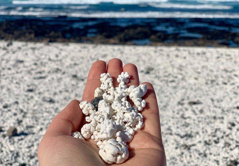 попкорн на пляже