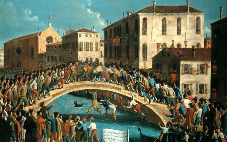 Бой на мосту в Венеции, картина