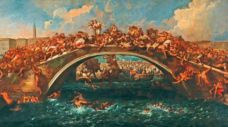 Бой на мосту в Венеции